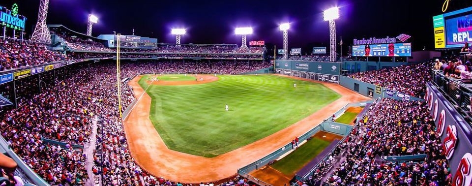 A picture of Fenway Park from right field. enVision Hotel Boston Is Near Fenway Park.